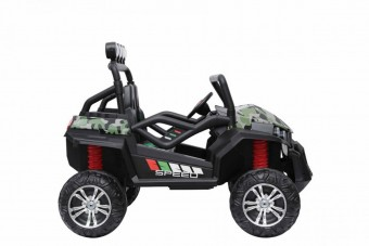 Masinuta electrica pentru copii UTV 4x4 GRAND BUGGY LIFT S2588, Military