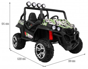 MASINUTA ELECTRICA PENTRU COPII 24 VOLTI UTV 4X4 BUGGY S2588 New Face Lift, Military
